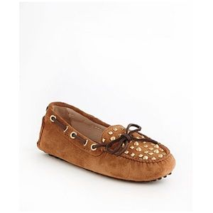 Authentic Michael Kors Leather Studded Loafers